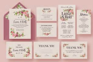 free wedding invitation suite templates floral wedding invitation suite invitation templates on