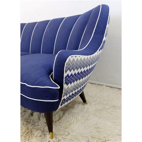 blue and white sofa italian blue and white sofa 1960s design market alley