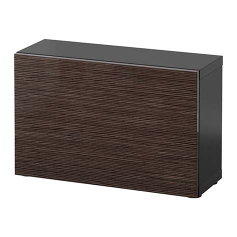 besta unit best 197 shelf unit with door black brown selsviken high
