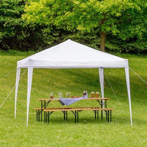 pavillon zusammenklappbar faltpavillon 3 x 3 m gartenzelt partyzelt festzelt faltbar