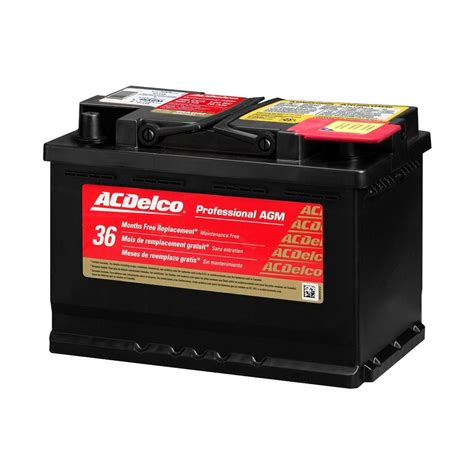 gmc battery acdelco 174 gmc 2015 professional agm heavy duty battery