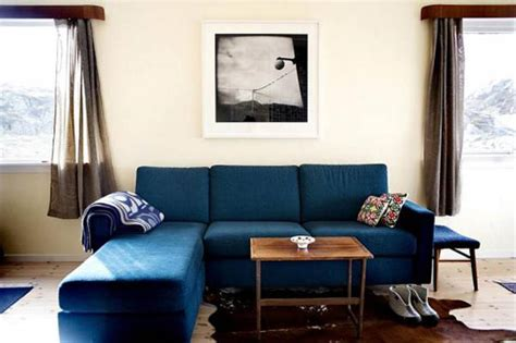 living room decorating with blue sectional sofa room
