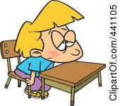 Boring Class Clipart Cliparthut Free Clipart Student Sitting At Desk Clipart