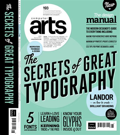 typography magazine cover most inspiring print magazines for designers in 2016 creative market