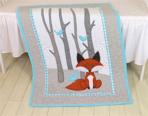 baby coverlets fox blanket animal nursery quilt baby boy quilt boy crib
