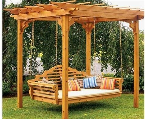outdoor porch bed swing pergola swing bed traditional patio boston by