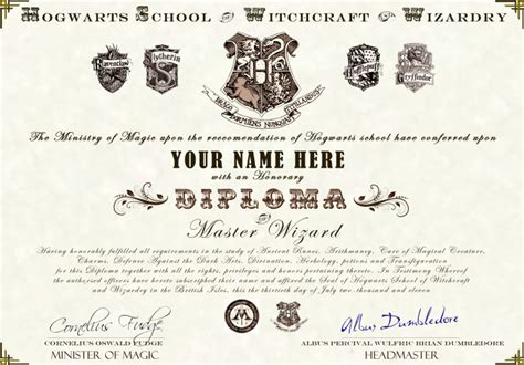 harry potter certificate template harry potter hogwarts diploma certificate ultra high