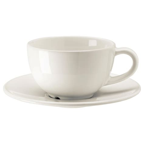 coffe cups vardagen coffee cup and saucer off white 14 cl ikea