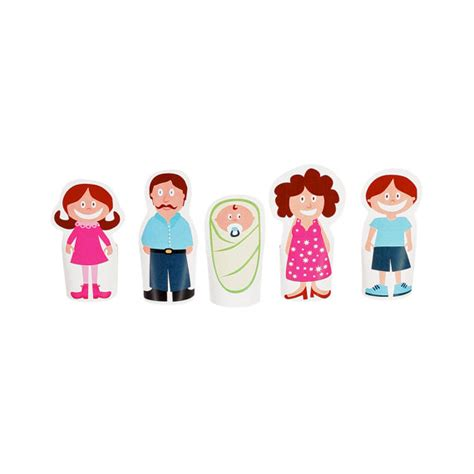 Finger Puppets With Paper - finger family paper finger puppets printable pdf by