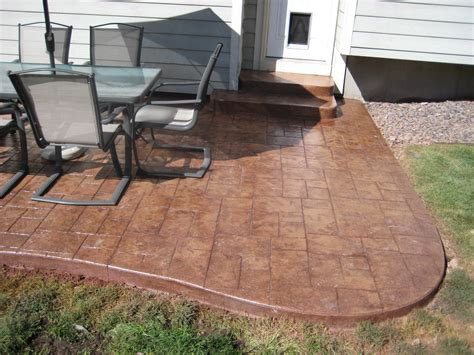 concrete patios denver custom decorative concrete patio
