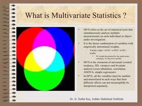 Multivariate Data Analysis 4 what are the multivariate statistical techniques