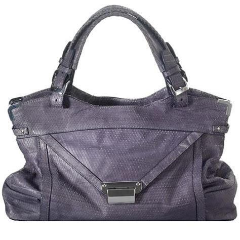 Kooba Python Embossed Tote by Kooba Kiley Slouchy Python Embossed Leather Satchel Handbag