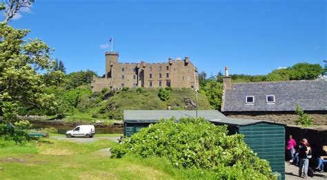 Dunvegan Castle Cottages by A View Of Dunvegan Castle From The Laundry Cottage Isle Of Scotland June 7 2014