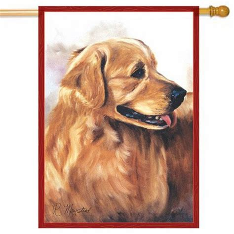 golden retriever house golden retriever house flag animal flags themes