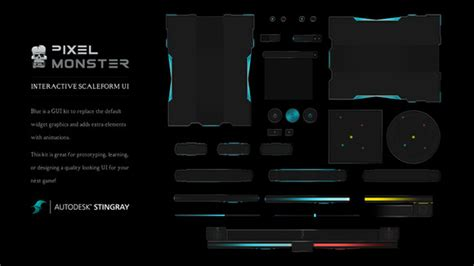 Sci Fi Card Frame Template by Interactive Scaleform Ui Sci Fi Blue Graphics On