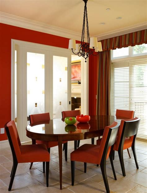 red dining room walls be confident with color how to integrate red chairs in