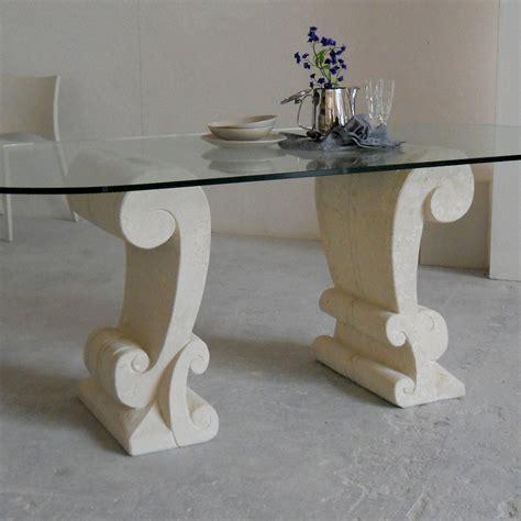 tavolo cristallo ovale tavolo ovale scolpito a mano in pietra di vicenza e