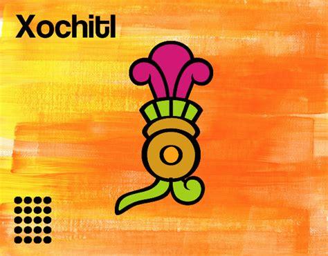 imagenes de flores aztecas dibujo de los d 237 as aztecas la flor xochitl pintado por