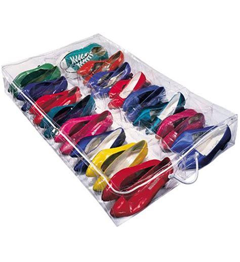 under bed shoe storage vinyl under bed shoe bag in under bed storage