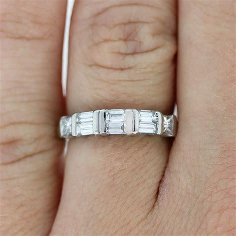 Wedding Bands Baguette Diamonds by Platinum Princess Cut Baguette Wedding Band Ring