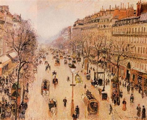 5 Boulevard Montmartre by Camille Pissarro Highbrow