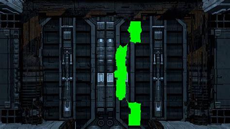 doors open sf 4k spaceship door open green screen sci fi door opening