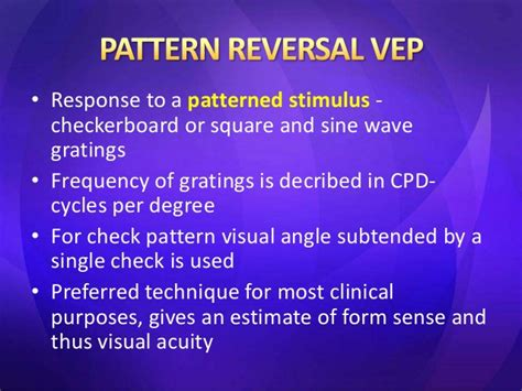 checkerboard pattern reversal stimulation visual evoked potential