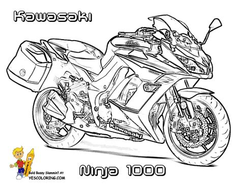 kawasaki ninja coloring pages rugged motorcycle coloring book pages triumph free