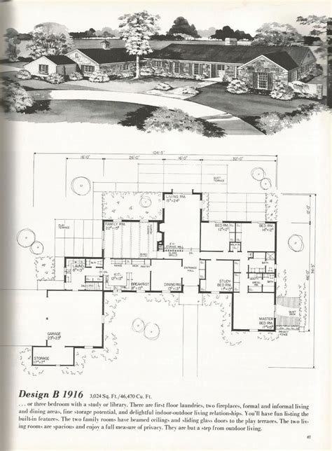 17 best ideas about vintage house plans on