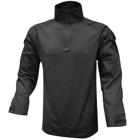 Combat Shirt Black viper warrior shirt tactical mens airsoft top