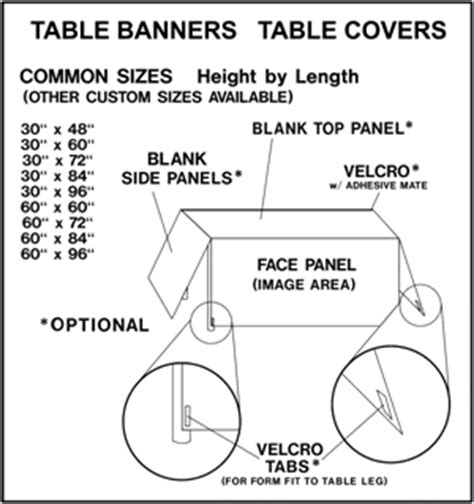 Table Banner Templates And Diagrams Table Banner Template