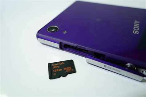Memory Card Sony Ericsson Xperia sandisk s 128gb microsdxc card works a treat in sony
