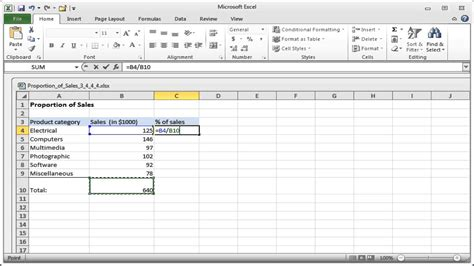 How To Find Sales Formula For Finding Percentage Of Total In Excel How To Calculate The Percent Of