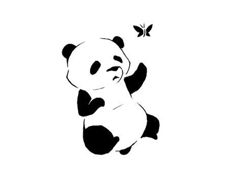 panda tattoo template panda stencil