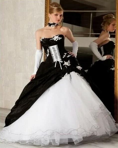 White Black Wedding Dresses by Get Cheap Wedding Dresses Aliexpress