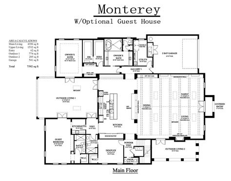 house plans with guest house attached floor plans with attached guest house