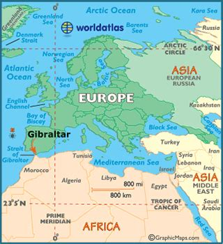 map of gibraltar world atlas