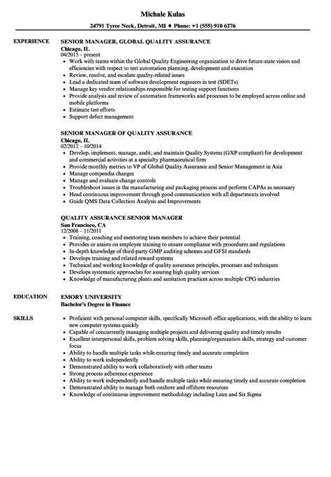 senior quality engineer sample resume 14 resume examples for