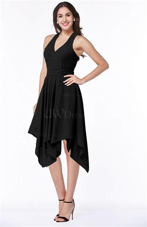black plain  neck sleeveless  backless ribbon