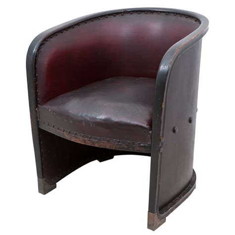 barrel armchair josef hoffmann 1870 1956 barrel armchair at 1stdibs