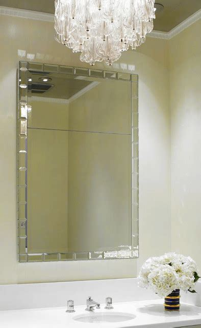 Mirrors For Powder Rooms - kim powder room mirror modern wall mirrors phoenix by jamie herzlinger