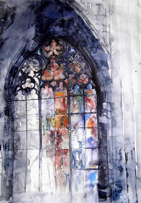 Fenster Bemalen Mit Wasserfarbe by I Can T Find The Source Info But This Watercolor Stained