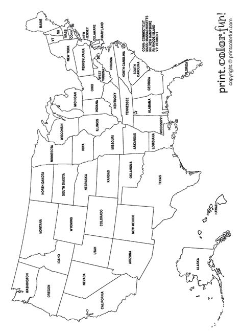 map of the united states coloring page coloring map of us united