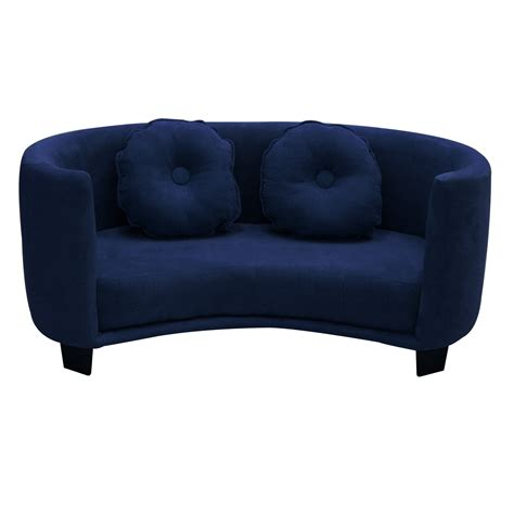 childs couch komfy kings kids comfy sofa navy blue micro baby