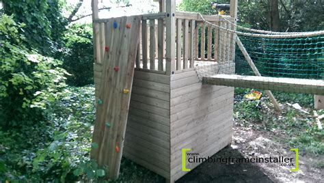 cargo net for swing set play crazy double tower climbing frame installation