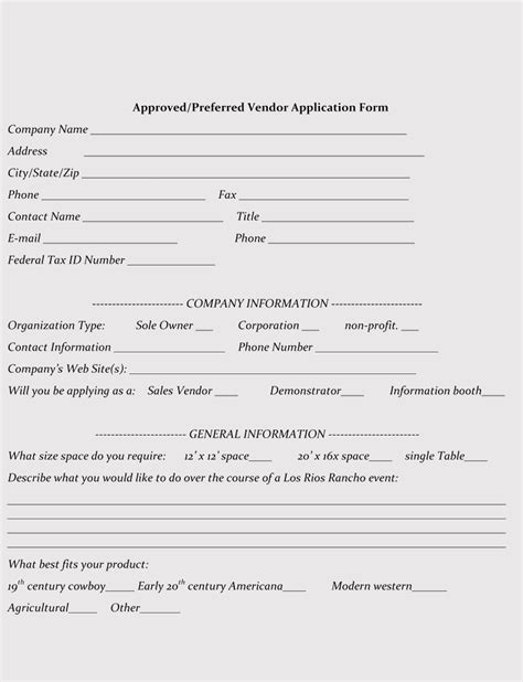 9 Printable Blank Vendor Registration Form Templates For Word Pdf Vendor Registration Template