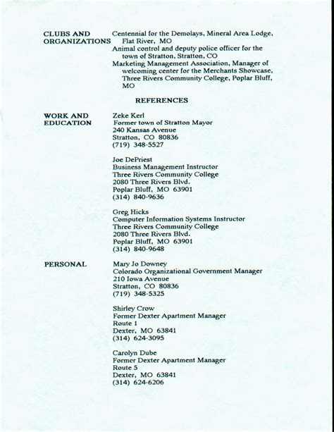 Resume 5 Years After College by College
