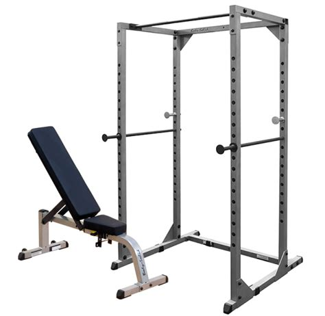 flat bench with rack bodysolid power rack with flat to incline bench gpr78