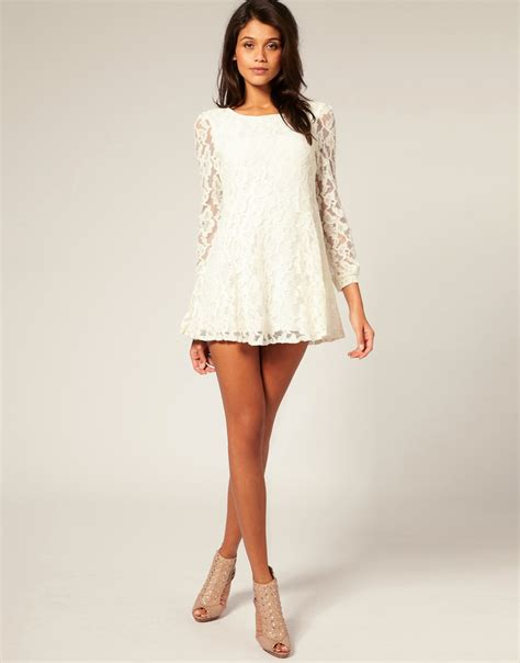 sixties swing dresses rare rare 60s style lace swing mini dress at asos