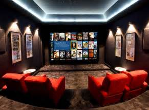 Charming Home Theater Rooms Design Ideas #4: Cool-Basement-Theater-Ideas-Simple.jpg